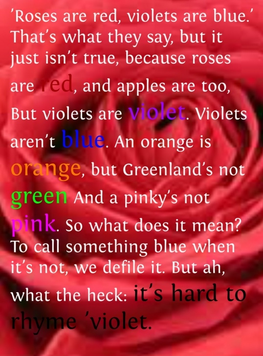 Amazing The Rose Is Red The Violet Is Blue Pic864