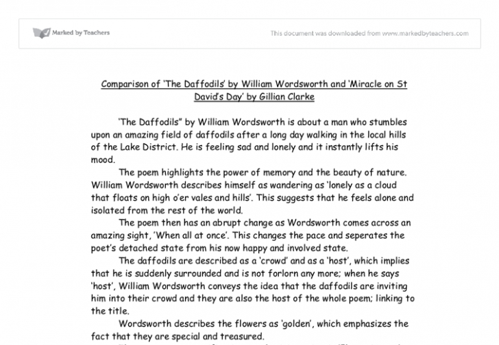 Awesome Full Poem Daffodils Picture936