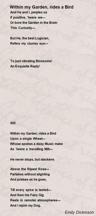 Awesome Into The Rose Garden Poem Image584