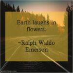 Awesome Ralph Waldo Emerson Earth Laughs In Flowers Image457