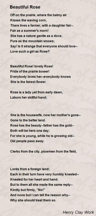 Awesome Said The Rose Poem Pic911