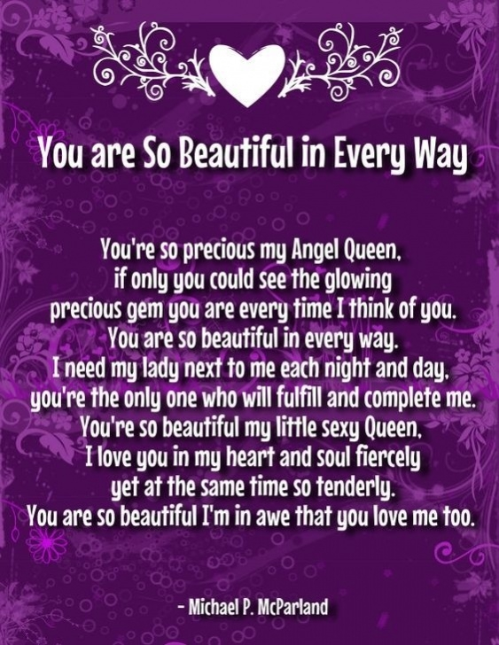 Awesome She Is The Most Beautiful Flower Poem Pics727