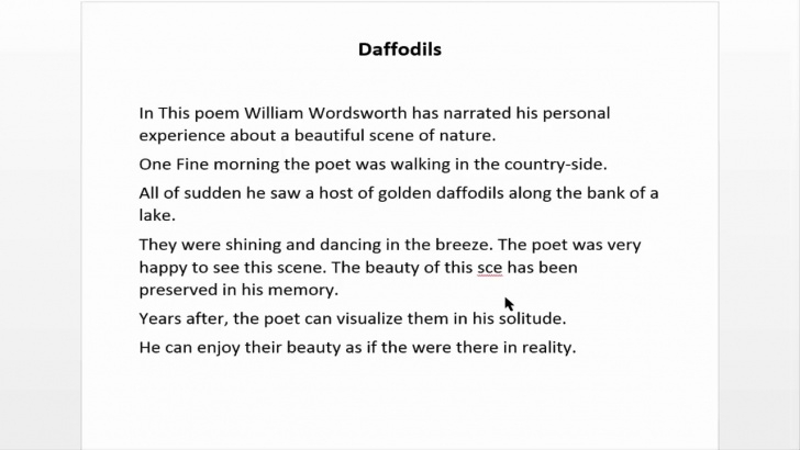 Awesome The Daffodils Poem In English Pic740