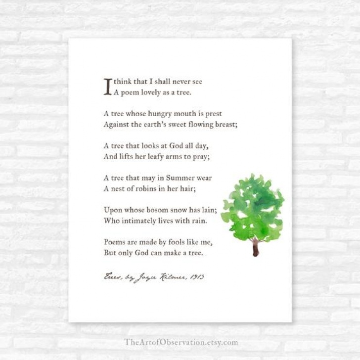 Best Poem About Plants And Trees Image550