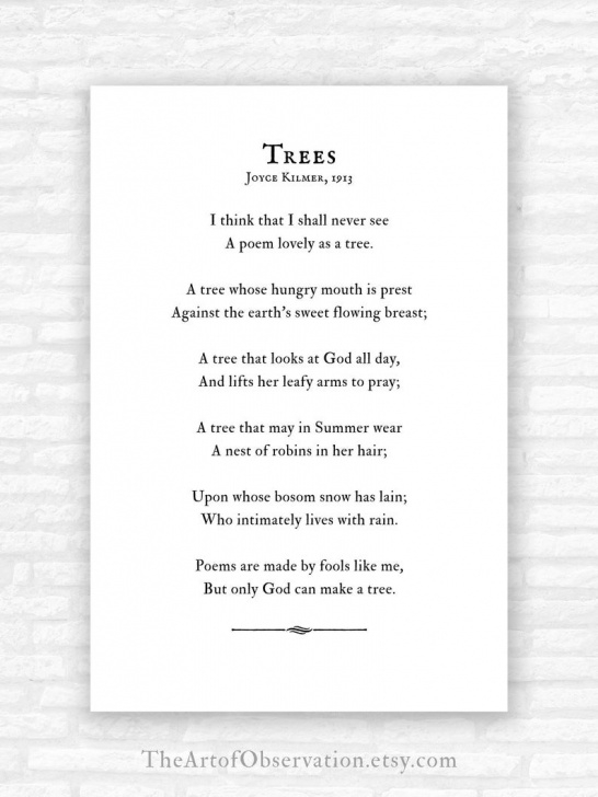 Best Trees Trees Trees Poem Picture871