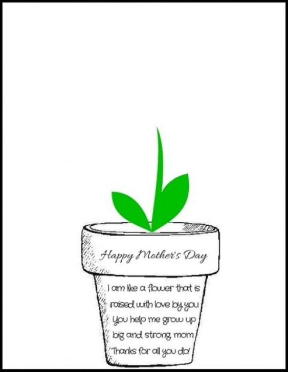 Creative Mothers Day Flower Poem Photo692