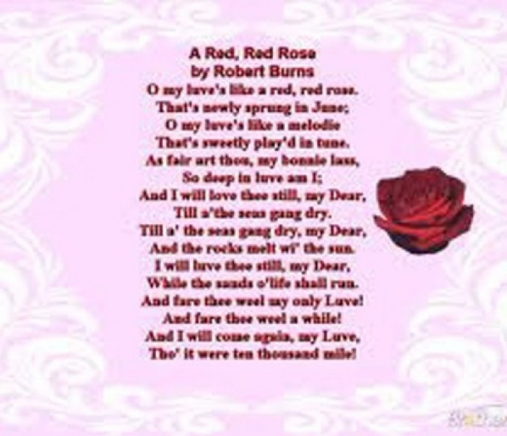 Creative Red Flower Poem Picture167