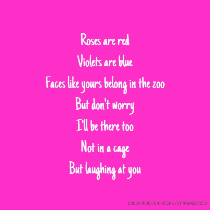 Creative Roses Are Red Violets Are Blue Nice Poems Pics145