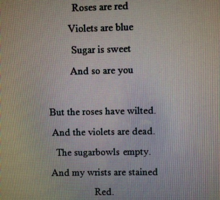 Creative Roses Are Red Violets Are Blue Sad Poems Image532