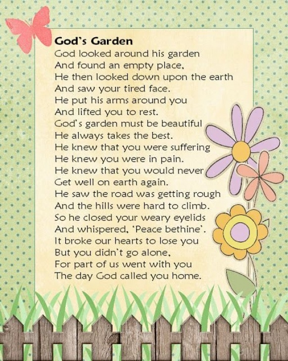 Famous Garden Poems For Funerals Photo885