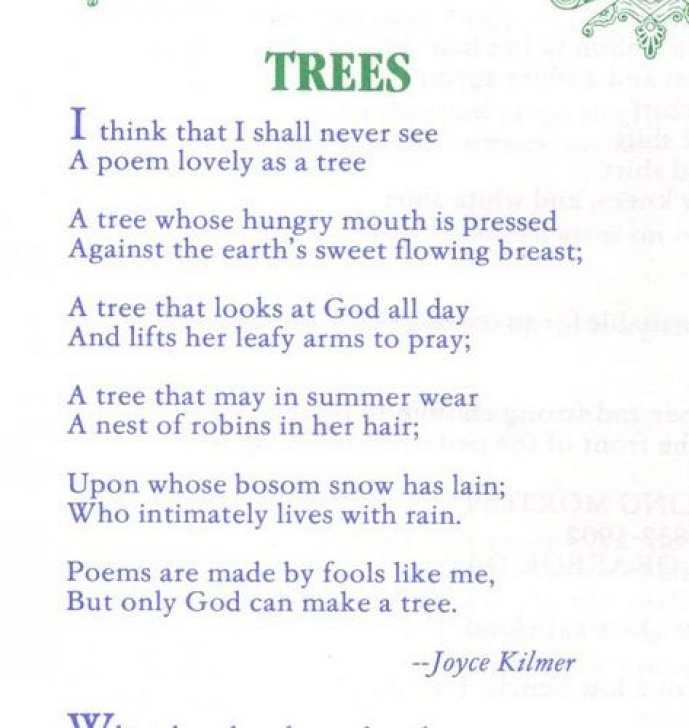 Famous Growth Of A Tree Poem Pic768