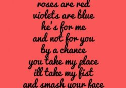 Famous Roses Are Red Violets Are Blue To Your Girlfriend Photo758
