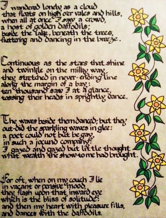 Famous To Daffodils Wordsworth Picture602