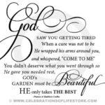 Fantastic God'S Garden Poem Words Picture902