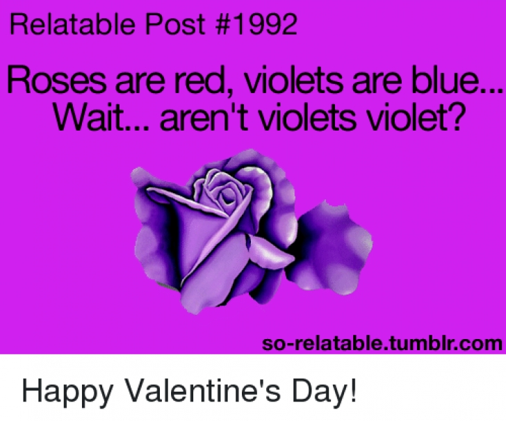 Fantastic Roses Are Red Violets Are Purple Poem Image656