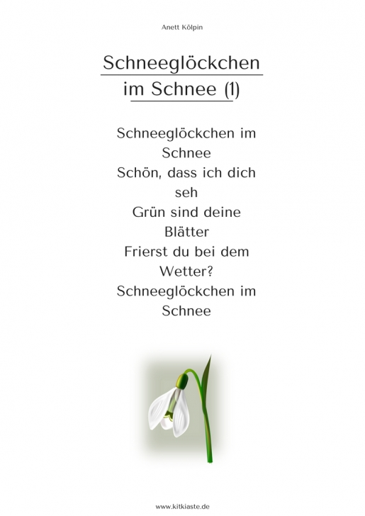 Gorgeous Children'S Poems About Snowdrops Pics616