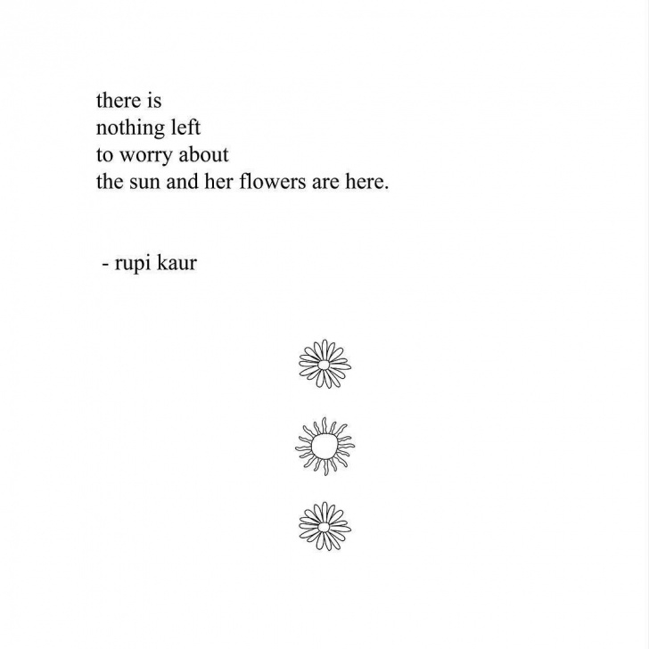 Gorgeous Rupi Kaur Sunflowers Poem Picture112