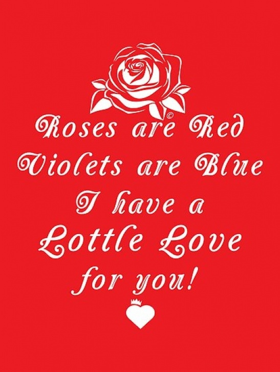 Great Roses Are Red Violets Are Blue Poems For Valentines Day Picture268