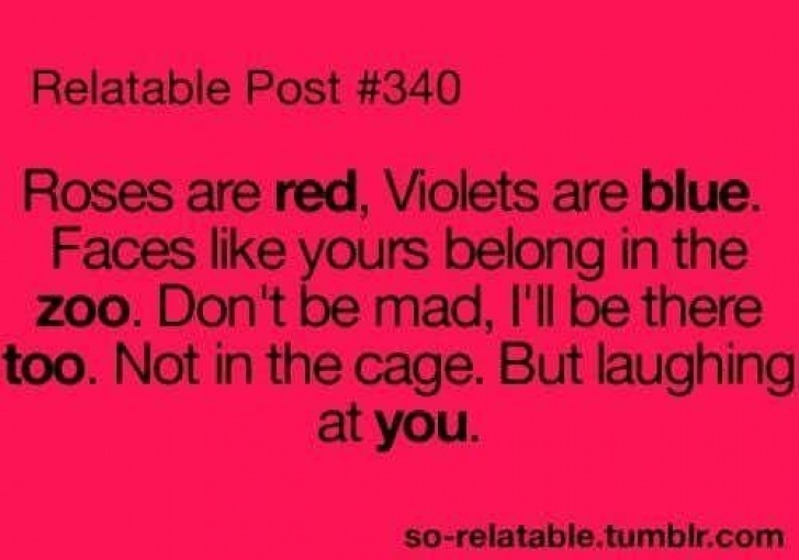 Great Roses Are Red Violets Are Blue Rude Poems Picture909