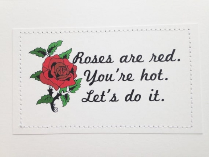 Great Rude Roses Are Red Violets Are Blue Photo352