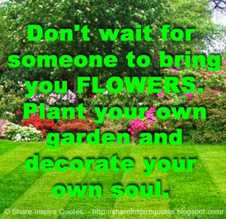 Great So Plant Your Own Garden And Decorate Your Own Soul Pic064
