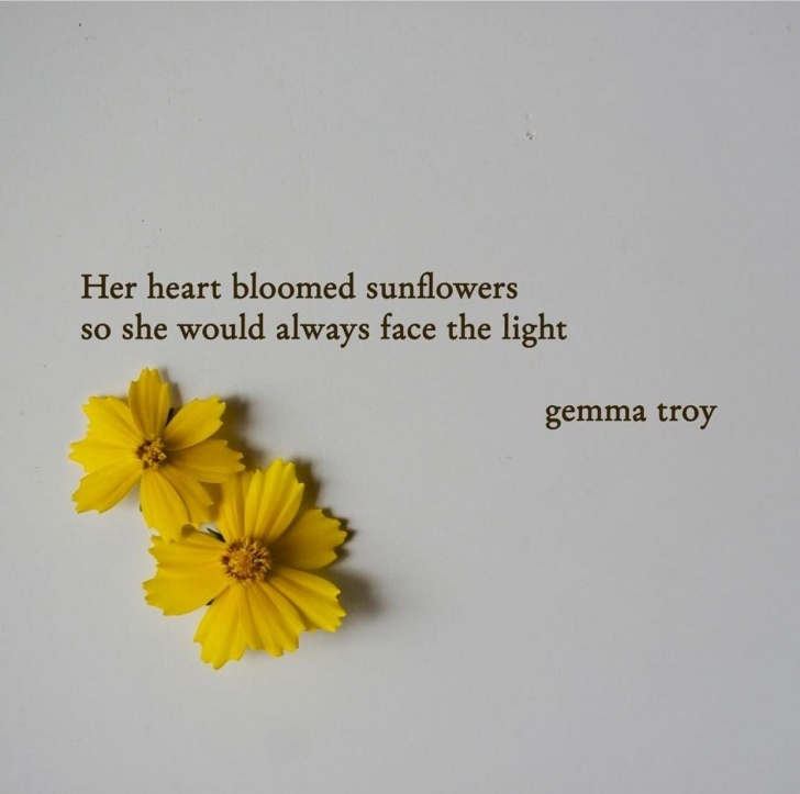Great Sunflower Poem For Her Pic956