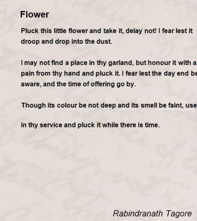 Greatest Beauty Of Flowers Poem Picture307
