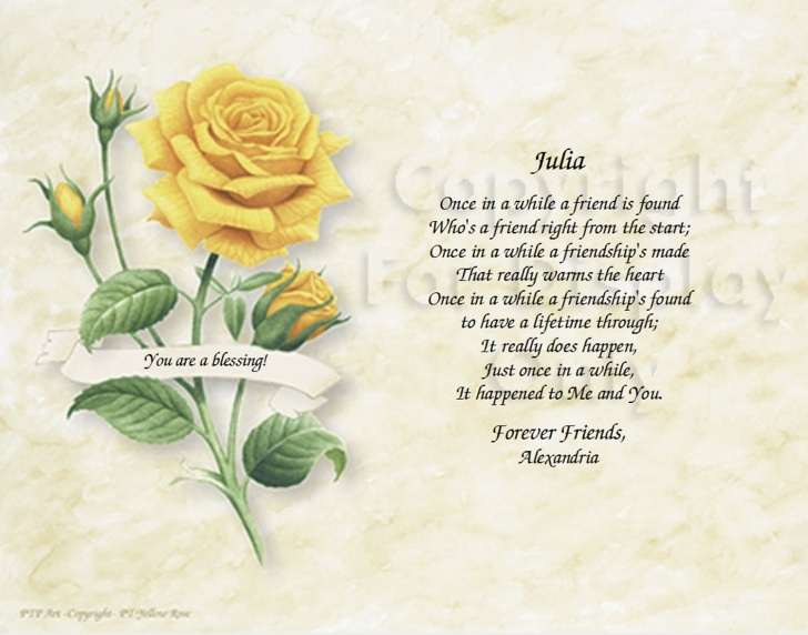 Greatest Friendship Rose Poem Picture482
