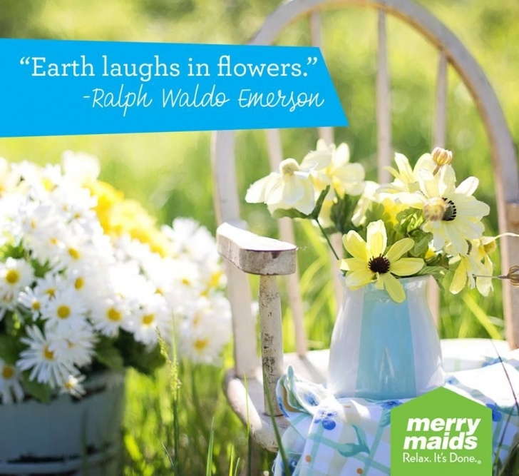 Greatest Ralph Waldo Emerson Earth Laughs In Flowers Photo163