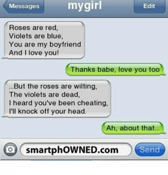 Greatest Roses Are Red Violets Are Blue To Your Girlfriend Pic085