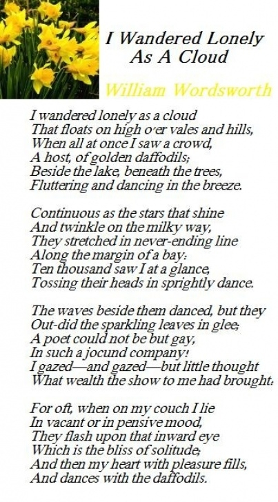 Inspirational Daffodils Poem By William Shakespeare Image729