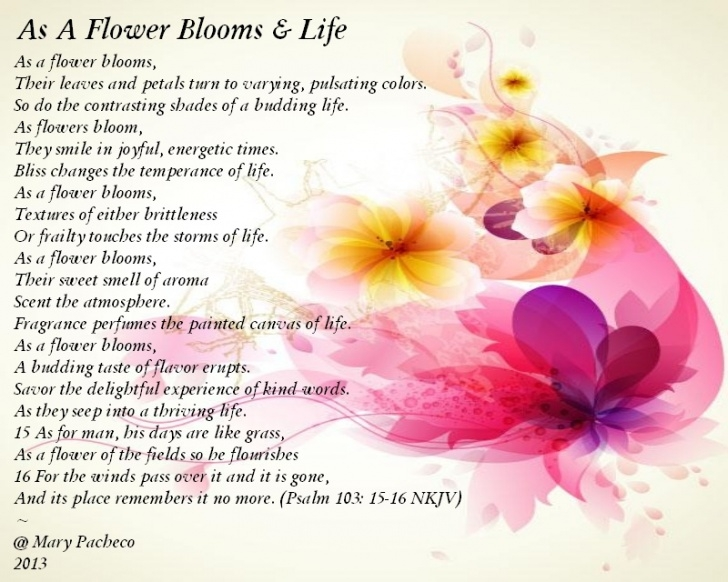 Inspirational If I Were A Flower Poem Image286