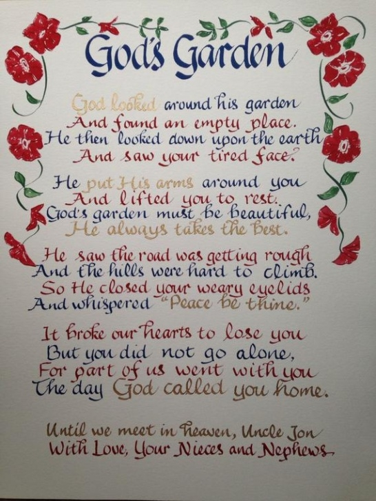 Inspirational Mother'S Garden Poem Picture660