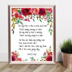 Inspirational Robert Burns Rose Poem Picture360
