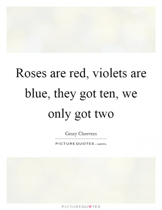 Inspirational Roses Are Red Violets Are Blue Wedding Image914
