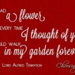 Inspirational The Flower Poem By Alfred Lord Tennyson Pic567