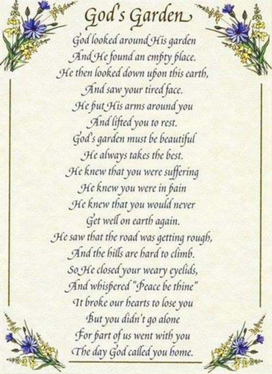 Inspiring Funeral Poems For A Keen Gardener Pics107