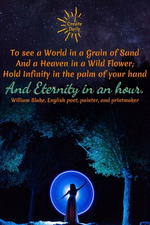 Inspiring Infinity In The Palm Of Your Hand Poem Pics791