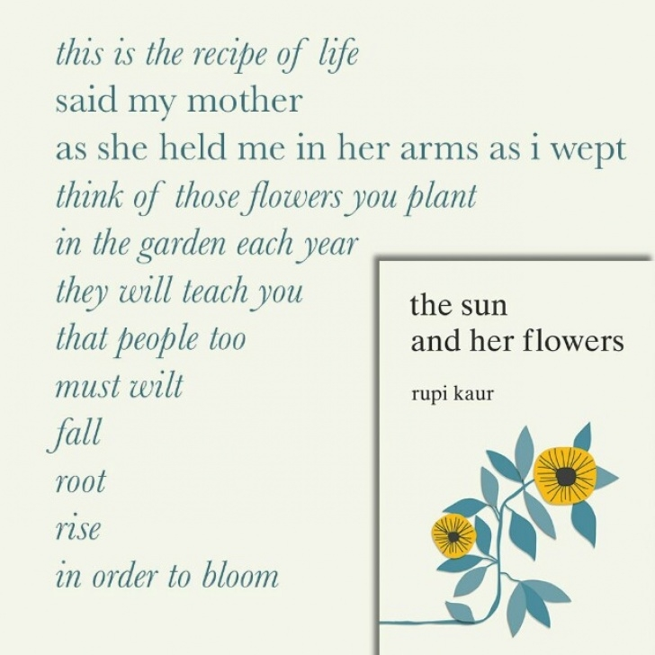 Inspiring Rupi Kaur Poems Sun And Her Flowers Image281