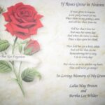 Marvelous A Rose For My Mother Poem Photo975