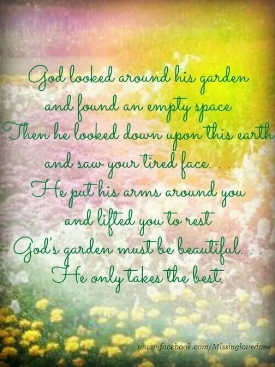 Marvelous God'S Garden Funeral Poem Pics648
