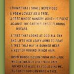 Most Famous Poem About Trees And Nature Pic239