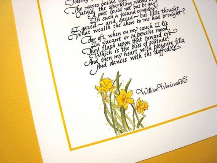 Most Famous Poem On Daffodils In English Pic488