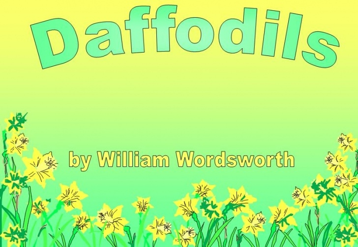 Most Famous The Poem Of Daffodils Pic675