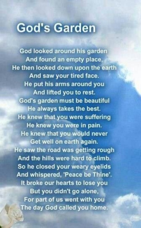 Most Iconic Garden Poems For Funerals Photo964