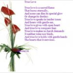 Most Iconic Love Is Like A Plant Poem Picture958