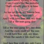 Most Iconic My Love Is Like A Red Rose Poem Photo562
