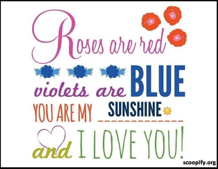 Most Iconic Sweet Roses Are Red Violets Are Blue Photo501