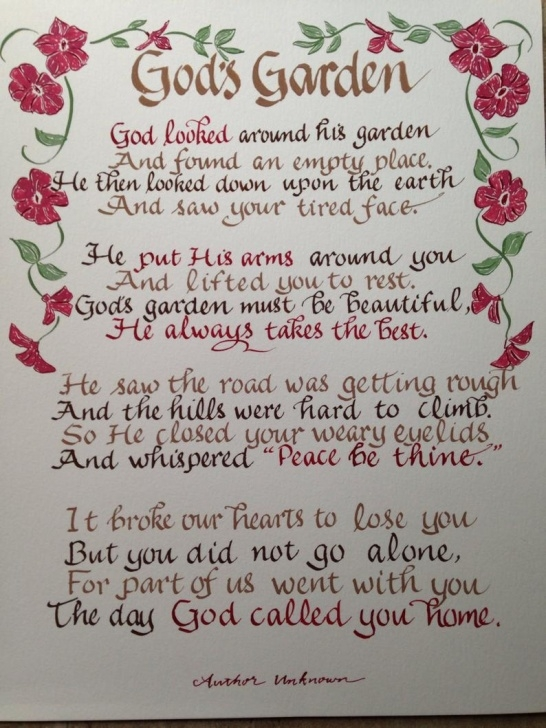 Motivational Gardening Poetry Suitable For Funerals Photo926