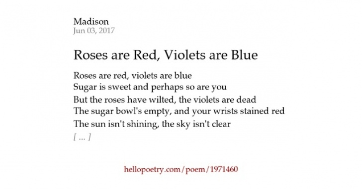 Motivational Roses Are Blue Poem Picture350